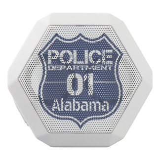 Alabama Police Department Shield 01 White Bluetooth Speaker