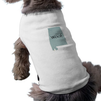 Alabama Woof! Sleeveless Dog Shirt