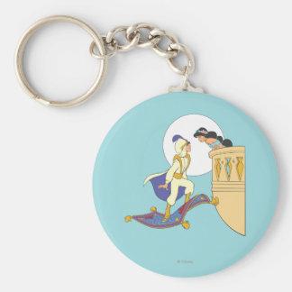 Aladdin and Jasmine Key Ring
