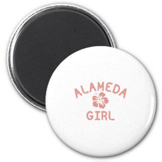 Alameda Pink Girl Refrigerator Magnet