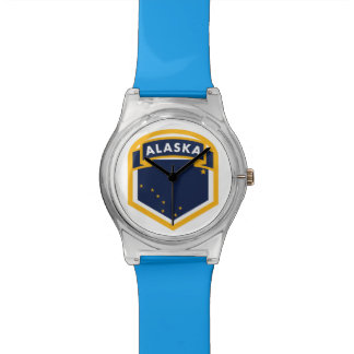 Alaska AK State Flag Crest Watch