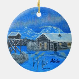 Alaska Bush Homestead Christmas Ornament
