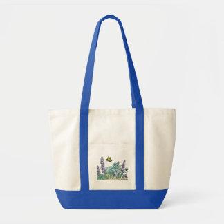Alaska Lupine Watercolor Tote Bag