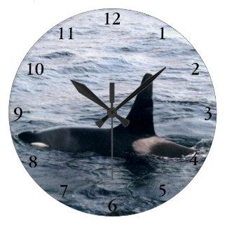 Alaska Orca Whale Ocean Photo Designed Clock