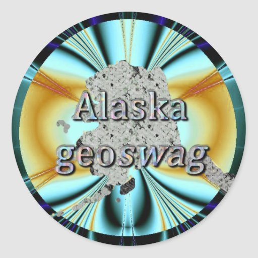 Alaska State Geocaching Supplies Stickers Geoswag