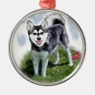 Alaskan Klee Kai Art Christmas Ornament