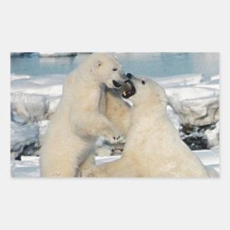 Alaskan Polar Bears Rectangular Sticker