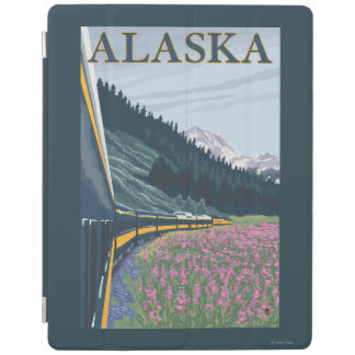 AlaskaRailroad and Fireweed Vintage Travel iPad Cover