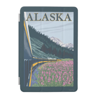AlaskaRailroad and Fireweed Vintage Travel iPad Mini Cover