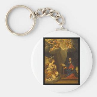 Albani Francesco Baptism of Christ Basic Round Button Key Ring