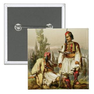 Albanians, mercenaries in the Ottoman army, pub. b 15 Cm Square Badge