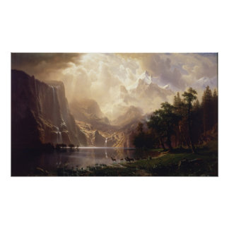 Albert Bierstadt - Among the Sierra Nevada Print