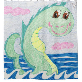 Albert The Sea Serpent Shower Curtain