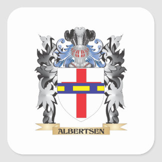 Albertsen Coat of Arms - Family Crest Square Sticker