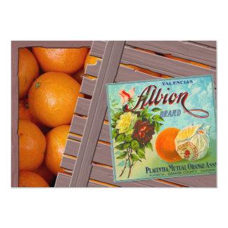 Albion Oranges Fruit Crate Label Invites