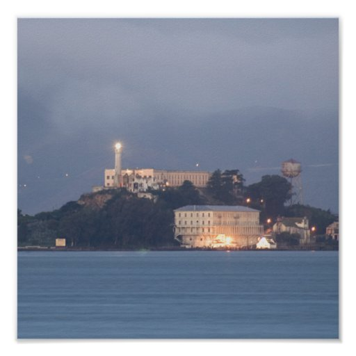 Alcatraz at Dawn Poster