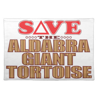 Aldabra Tortoise Save Placemat
