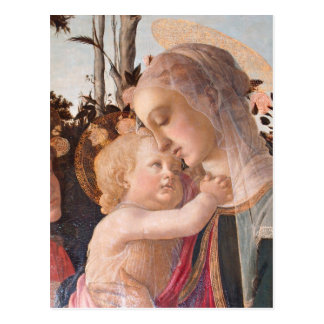 Alessandro Botticelli's The Virgin and Child Postcard