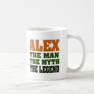 Alex - the Man, the Myth, the Legend! Basic White Mug