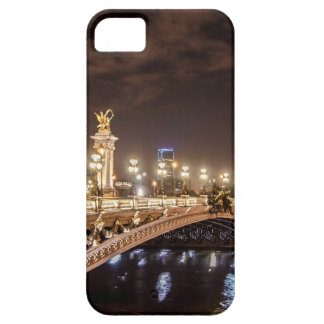 Alexander 3 bridge in Paris France at night iPhone 5 Cover