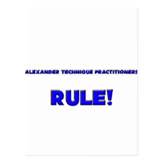 Alexander Technique Practitioners Rule Post Cards