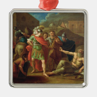 Alexander the Great visits Diogenes at Corinth Christmas Ornament
