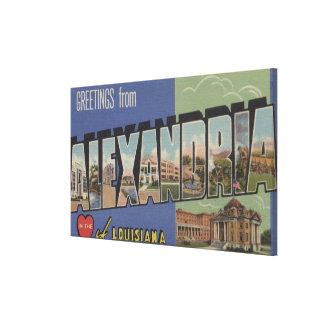 Alexandria, Louisiana - Large Letter Scenes Canvas Print