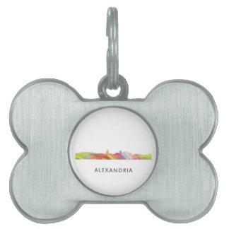 ALEXANDRIA VIRGINIA SKYLINE BW1 - PET TAG