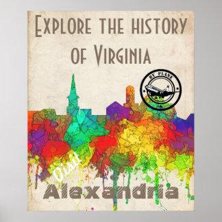 Alexandria Virginia Skyline-SG Poster