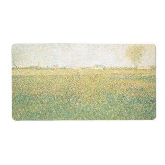 Alfalfa Fields Saint Denis by Georges Seurat