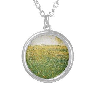Alfalfa Fields Saint Denis by Georges Seurat Custom Necklace