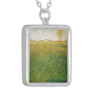 Alfalfa Fields Saint Denis by Georges Seurat Necklaces