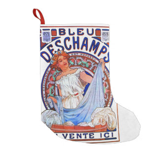 Alfons Mucha 1897 Bleu Deschamps Small Christmas Stocking
