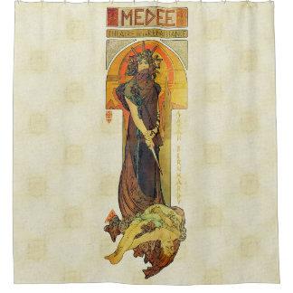 Alfons Mucha 1898 Medea Shower Curtain