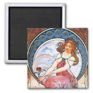 Alfons Mucha Muse of Painting Fridge Magnets