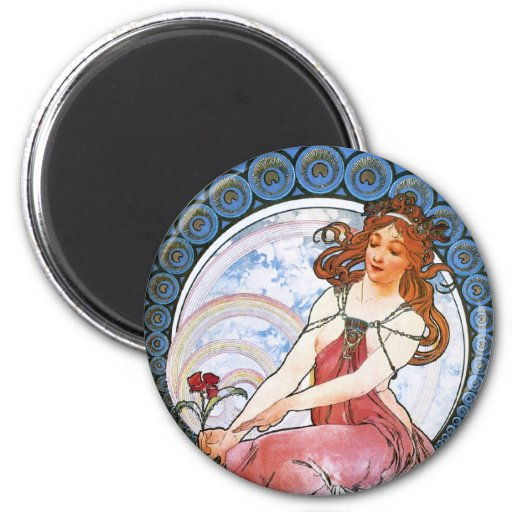 Alfons Mucha: Muse of Painting Magnet