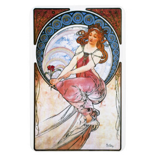Alfons Mucha Muse of Painting Magnets
