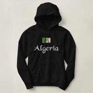 Algeria Flag Embroidered Hoodie