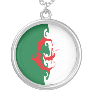 Algeria Gnarly Flag Silver Plated Necklace