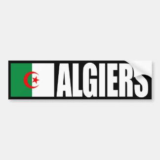 Algiers Algeria Flag Bumper Sticker