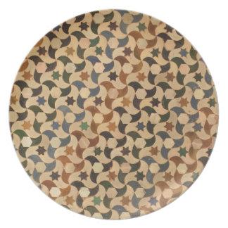Alhambra Star Mosaic Warm-Hue Plate