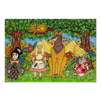 Alice and Friends in Wonderland Poster