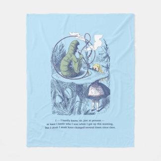 Alice and the Caterpillar Medium Fleece Blanket
