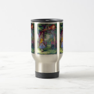 Alice and the Cheshire Cat Full Color Travel Mug