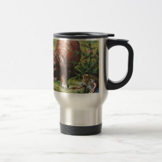 Alice and the Giant Puppy Travel Mug