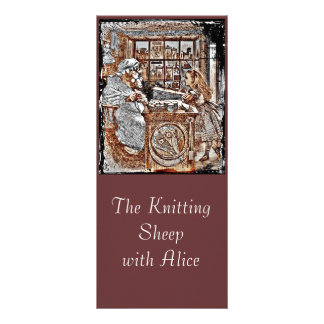Alice and the Knitting Sheep Rack Card