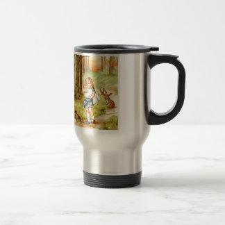 Alice and the Pig Baby in Wonderland Travel Mug