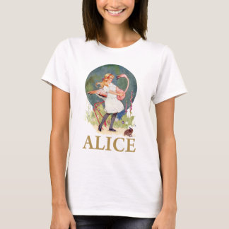 ALICE AND THE PINK FLAMINGO PLAY CROQUET T-Shirt