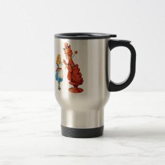 Alice and the Red Queen in Wonderland Travel Mug