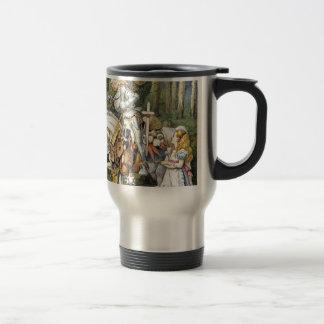 Alice and the White Knight Travel Mug